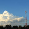 Telephone Tower And Cloud
